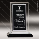 Acrylic Black Accented Silver Royal Impress Trophy Award Black Accented Acylic Awards