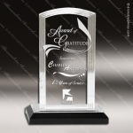 Acrylic Black Accented Step Arch Impress Trophy Award Black Accented Acylic Awards