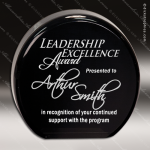 Acrylic Black Accented Round Circle Award Black Accented Acylic Awards