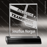 Acrylic Black Accented Rectangle Trophy Award Black Accented Acylic Awards