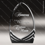 Acrylic Black Accented Peak Soaring Cathedral Trophy Award Black Accented Acylic Awards