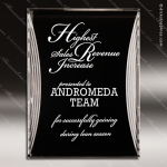 Acrylic Black Accented Silver Reflection Stand-Up Trophy Award Black Accented Acylic Awards