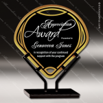 Acrylic Black Accented Infinity Fan Trophy Award Black Accented Acylic Awards
