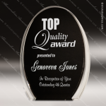 Acrylic Black Accented Luminary Oval Award Black Accented Acylic Awards
