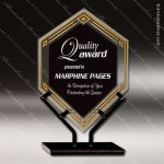 Acrylic Black Accented Infinity Double Diamond Trophy Award Black Accented Acylic Awards