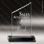 Acrylic Black Accented Iceberg Trophy Award Black Accented Acylic Awards