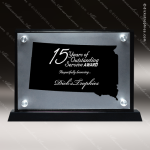 Acrylic Black Accented Silver US State Shaped South Dakota Trophy Award Black Accented Acylic Awards