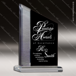 Acrylic Black Accented Peak Zenith Trophy Award Black Accented Acylic Awards