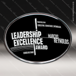 Acrylic Black Accented Oval Trophy Award Black Accented Acylic Awards