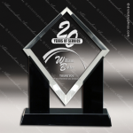 Acrylic Black Accented Marquis Clear Diamond Trophy Award Black Accented Acylic Awards