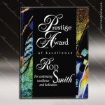 Acrylic Plaque Multi-Colored Blue Accented Wall Placard Award Black Accented Acylic Awards