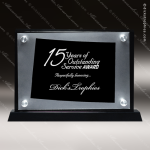 Acrylic Black Accented Silver US State Shaped Colorado Trophy Award Black Accented Acylic Awards