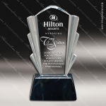 Acrylic Black Accented Clear Coronet Trophy Award Black Accented Acylic Awards