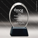 Acrylic Black Accented Clear Oval Trophy Award Black Accented Acylic Awards