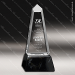 Acrylic Black Accented Clear Obelisk Trophy Award Black Accented Acylic Awards