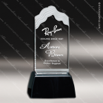 Acrylic Black Accented Clear Wave Trophy Award Black Accented Acylic Awards