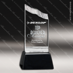 Acrylic Black Accented Clear Summit Trophy Award Black Accented Acylic Awards