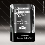 Crystal Black Accented Cosmo Oval Trophy Award Black Accented Crystal Awards