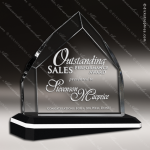 Crystal Black Accented Rough Ascent Diamond Trophy Award Black Accented Crystal Awards