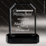 Crystal Black Accented Conforma Rectangle Trophy Award Black Accented Crystal Awards