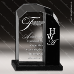 Crystal Black Accented Optic Stride Rectangle Trophy Award Black Accented Crystal Awards