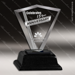 Crystal Black Accented Optic Might Diamond Trophy Award Black Accented Crystal Awards