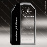 Crystal Black Accented Optic Divi Rectangle Trophy Award Black Accented Crystal Awards