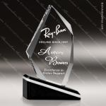 Crystal Black Accented Optica Oblique Arrowhead Trophy Award Black Accented Crystal Awards