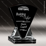 Crystal Black Accented Onyx Arch Triangle Trophy Award Black Accented Crystal Awards