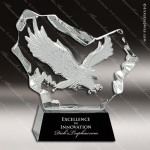 Crystal Black Accented Eagle Trophy Award Black Accented Crystal Awards