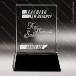 Crystal Black Accented Rectangle Wedge Trophy Award Black Accented Crystal Awards