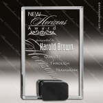 Crystal Black Accented Rectangle Black Base Trophy Award Black Accented Crystal Awards
