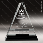Crystal Black Accented Split Triangle Triad Trophy Award Black Accented Crystal Awards
