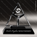 Crystal Black Accented Triad Trophy Award Black Accented Crystal Awards