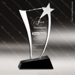 Crystal Black Accented Star Wave Trophy Award Black Accented Crystal Awards