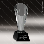Crystal Black Accented Facet Rising Spire Trophy Award Black Accented Crystal Awards