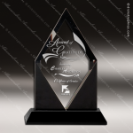 Crystal Black Accented Diamond Tip Trophy Award Black Accented Crystal Awards