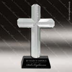 Crystal Black Accented Cross Trophy Award Black Accented Crystal Awards