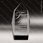 Crystal Black Accented Facet Obelisk Tower Trophy Award Black Accented Crystal Awards