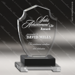 Crystal Black Accented Diamond Shield Trophy Award Black Accented Crystal Awards