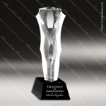 Crystal Black Accented Joy Stick Trophy Award Black Accented Crystal Awards