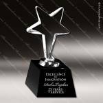 Crystal Black Accented Star Trophy Award Black Accented Crystal Awards