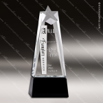 Crystal Black Accented Star Rising Trophy Award Black Accented Crystal Awards