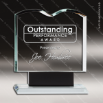 Crystal Black Accented Open Book Trophy Award Black Accented Crystal Awards