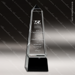 Crystal Black Accented Obelisk Trophy Award Black Accented Crystal Awards