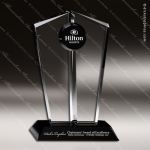 Crystal Black Accented Gemini Sunset Trophy Award Black Accented Crystal Awards