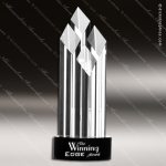Crystal Black Accented Executive Diamond Trophy Award Black Accented Crystal Awards