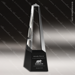 Crystal Black Accented Classic Obelisk Trophy Award Black Accented Crystal Awards