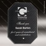 Jacob Octagon Glass Black Accented Carbon Fiber Arista Trophy Award Black Accented Glass Awards