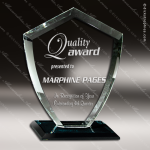 Glass Black Accented Diamond Velocity Trophy Award Black Accented Glass Awards